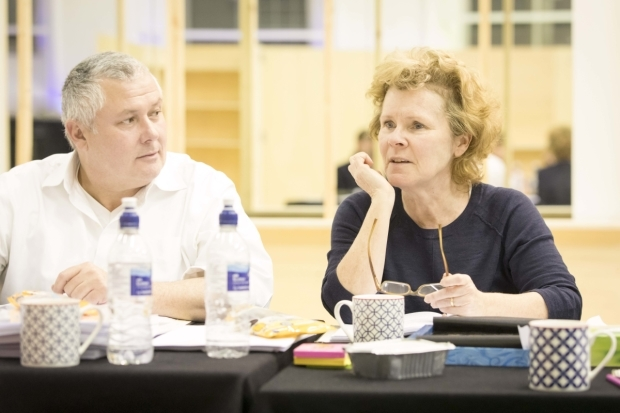 <p>Conleth Hill and Imelda Staunton in rehearsals for <em>Who&#39&#x3B;s Afraid of Virginia Woolf?</em></p><br />© Johan Persson