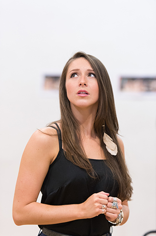 <p>Cordelia Farnsworth (Sherrie) in rehearsal for <em>Rock of Ages The Musical</em> UK Tour</p><br />© Manuel Harlan
