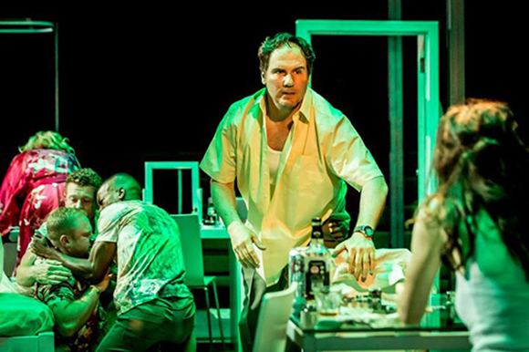 <p>Corey Johnson in <em>A Streetcar Named Desire</em> at the Young Vic</p><br />© Johan Persson