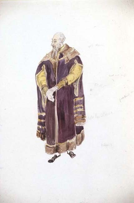<p>Costume design for Polonius</p><br />© Flickr/Jeanetta Cochrane