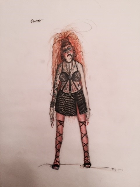 <p>Costume drawings for <em>Vice Versa</em></p>