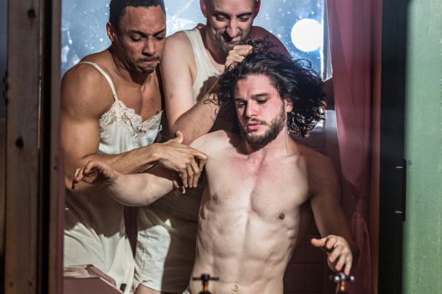 <p>Craig Stein, Tom Edden and Kit Harington </p><br />© Marc Brenner