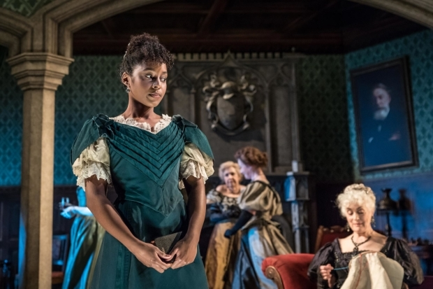 <p>Crystal Clarke as Hester Worsley in <em>A Woman of No Importance</em></p><br />© Marc Brenner