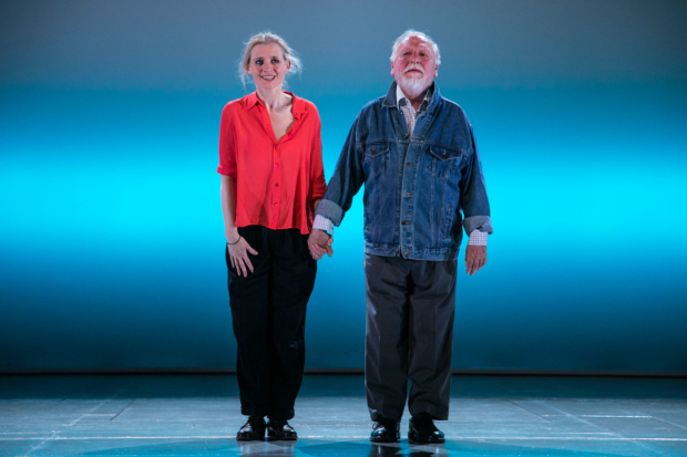 <p>Curtain call for <em>Heisenberg</em> with Anne-Marie Duff and Kenneth Cranham</p><br />© Dan Wooller for WhatsOnStage