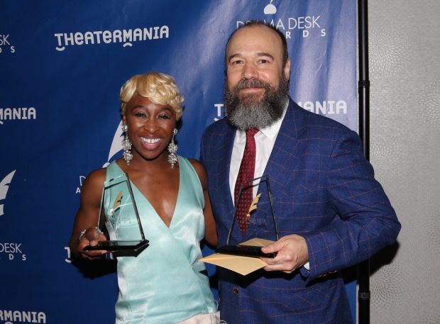 <p>Cynthia Erivo and Danny Burstein</p><br />© David Gordon