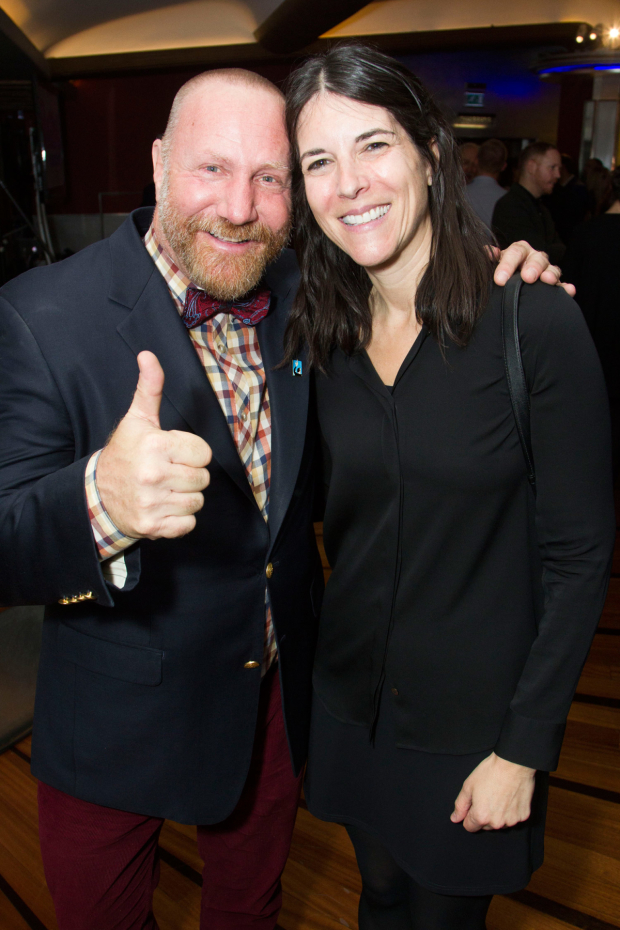 <p>Dabid Nellis and Samantha Cohen</p><br />© Dan Wooller for WhatsOnStage