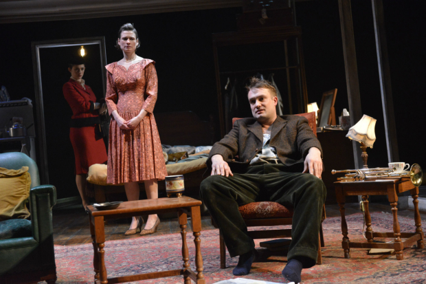 <p>Daisy Badger as Helena Augustina Seymour as Alison and Patrick Knowles as Jimmy Porter    in <em>Look Back in Anger</em></p><br />© Robert Day
