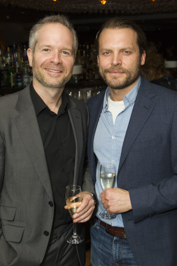 <p>Damian Humbley and Lex Shrapnel</p><br />© Dan Wooller for WhatsOnStage