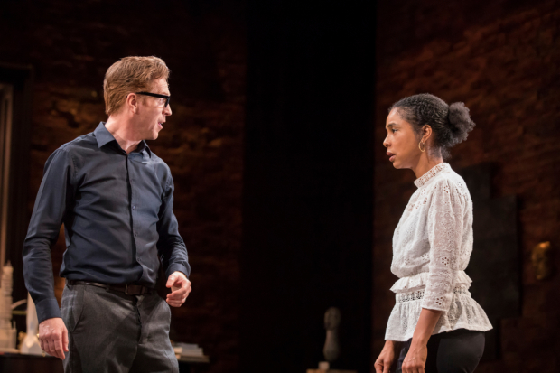 <p>Damian Lewis (Martin) and Sophie Okonedo (Stevie) in <em>The Goat, or Who is Sylvia?</em></p><br />© Johan Persson
