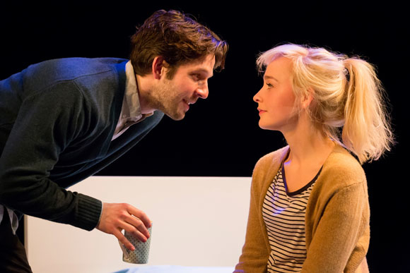 <p>Damien Molony as Spike and Olivia Vinall as Hilary</p><br />© Johan Persson