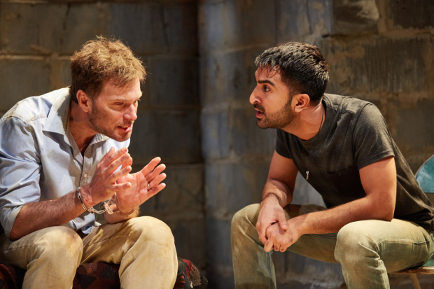 <p>Daniel Lapaine (Nick) and Parth Thakerar (Bashir)</p><br />© Mark Douet
