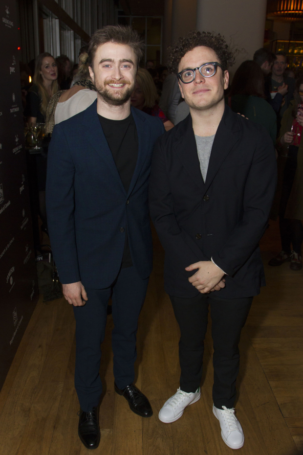 <p>Daniel Radcliffe (Rosencrantz) and Joshua McGuire (Guildenstern)</p><br />© Dan Wooller for WhatsOnStage