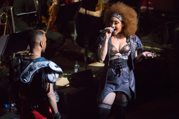<p>Danielle Steers performing with the <em>Bat Out of Hell </em> cast</p><br />© Peter Gibbons