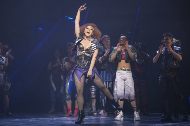 <p>Danielle Steers (Zahara) during the curtain call</p><br />© Dan Wooller for WhatsOnStage