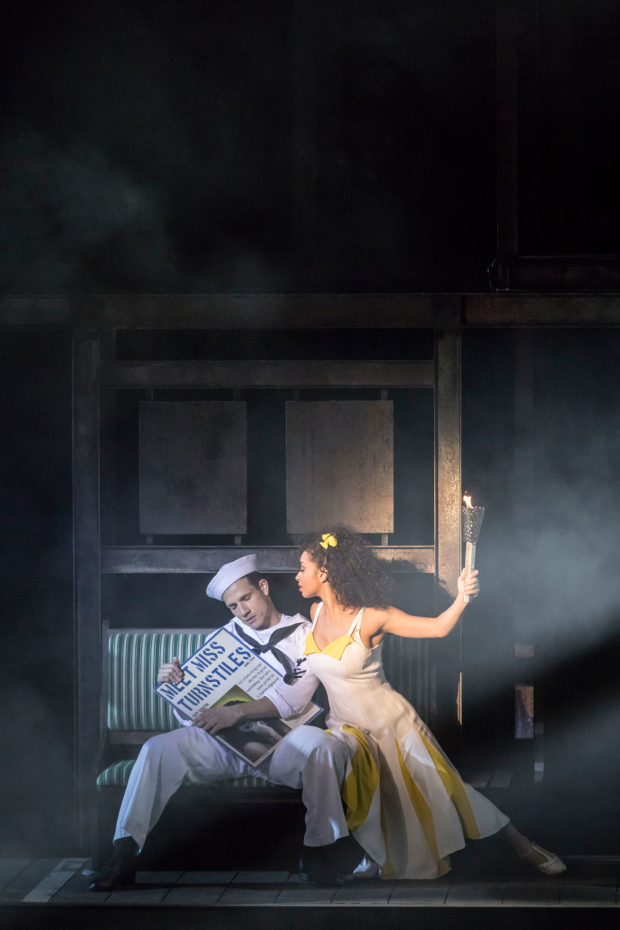 <p>Danny Mac and Siena Kelly as Gabey and Ivy in <em>On the Town</em></p><br />© Johan Persson