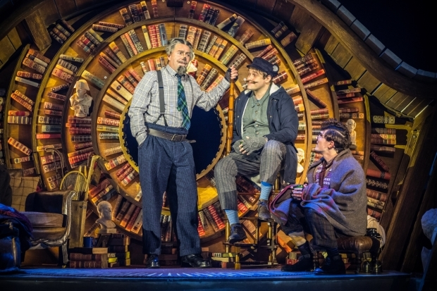 <p>David Birrel as Badger, Thomas Howes as Ratty and Fra Fee as Mole in <em>The Wind in the Willows</em>.</p><br />© Marc Brenner/Jamie Hendry Productions