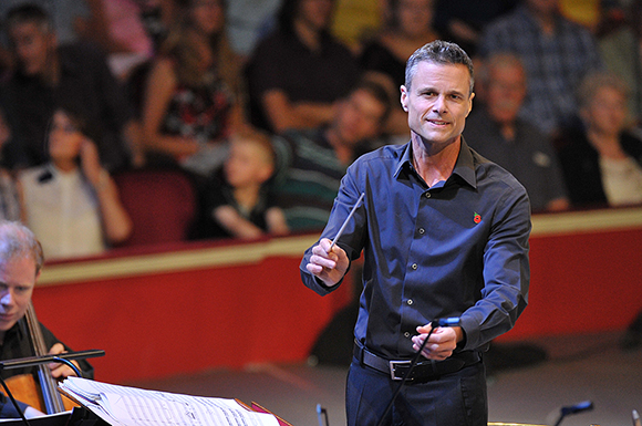 <p>David Charles Abell conducts the BBC Concert Orchestra at the <em>War Horse</em> Prom, BBC Proms 2014.</p><br />© BBC/Chris Christodoulou