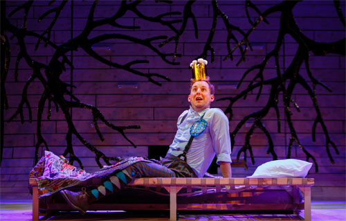 <p>David Emmings-(Percy) in <em>Sleeping Beauty</em> at the Bristol Old Vic </p><br />(c) Steve Tanner