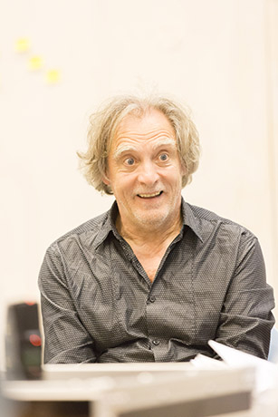 <p>David Fielder in rehearsal for <em>Fathers and Sons</em></p><br />© Johan Persson