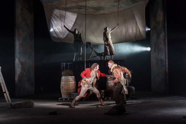 <p>David Haig (The Player) and Tim van Eyken (Player) in <em>Rosencrantz &amp&#x3B; Guildenstern Are Dead</em></p><br />© Manuel Harlan