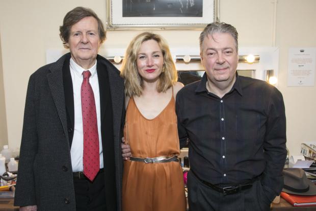 <p>David Hare (playwright), Nancy Carroll (Audrey Mildmay) and Roger Allam (John Christie)</p><br />© Dan Wooller for WhatsOnStage