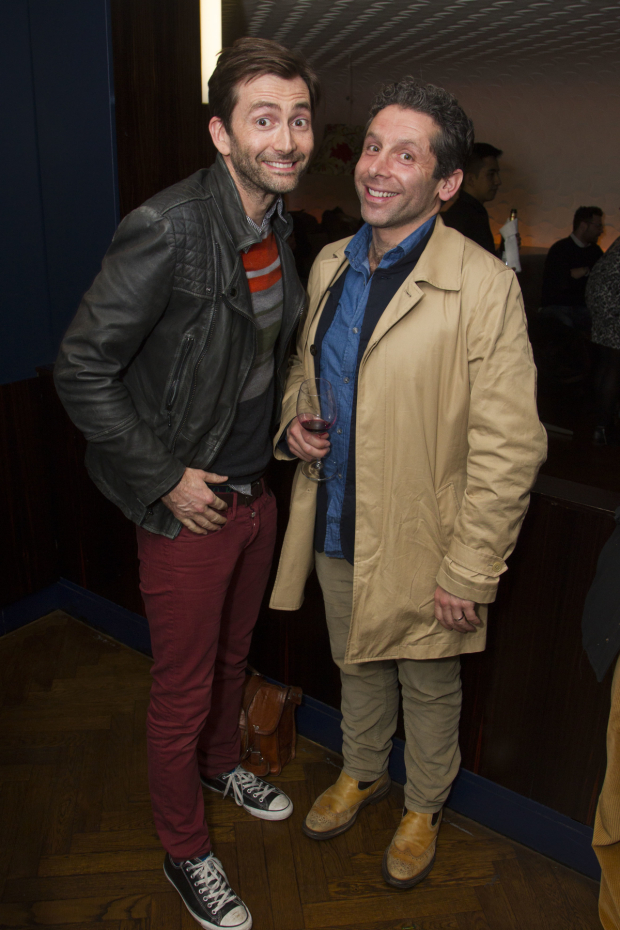 <p>David Tennant and Elliot Levey</p><br />© Dan Wooller for WhatsOnStage