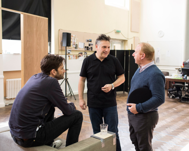 <p>David Tennant, Patrick Marber and Adrian Scarborough</p><br />© Helen Maybanks