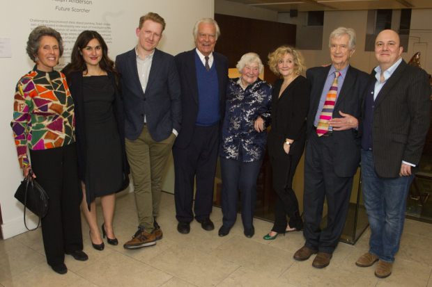 <p>Debbie Owen, Nathalie Armin (Debbie Owen), Tom Goodman-Hill (David Owen), David Owen, Shirley Williams, Debra Gillett (Shirley Williams), Bill Rodgers and Paul Chahidi (Bill Rodgers)</p><br />© Dan Wooller for WhatsOnStage