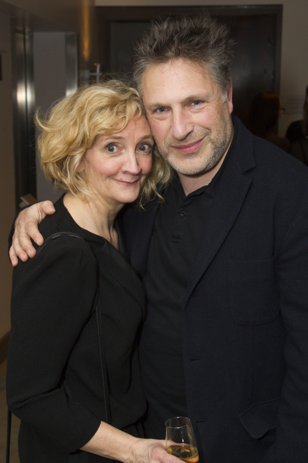 <p>Debra Gillett (Shirley Williams) and Patrick Marber</p><br />© Dan Wooller for WhatsOnStage