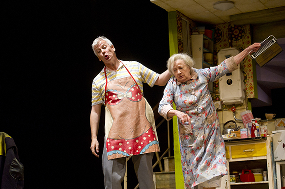 <p>Deka Walmsley (Dad) and Ann Emery (Grandma) in <em>Billy Elliot</em> at the Victoria Palace Theatre</p><br />© Alastair Muir