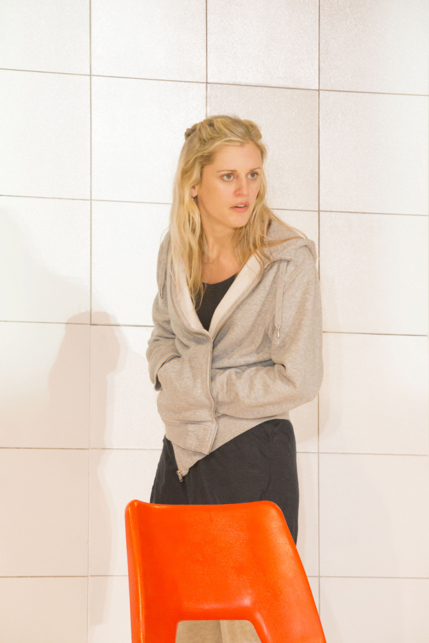 <p>Denise Gough (Emma) in <em>People, Places and Things</em></p><br />(© Johan Persson)