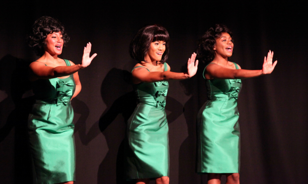 <p>Diana Ross and The Supremes performing at the <em>Motown The Musical</em> launch. </p><br />(c) Craig Sugden