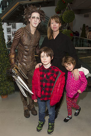 <p>Dominic North (Edward Scissorhands) and Anna Maxwell Martin, with Jed and Maggie</p><br />© Dan Wooller for WhatsOnStage