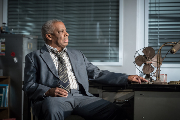 <p>Don Warrington in <em>Glengarry Glen Ross</em></p><br />© Marc Brenner