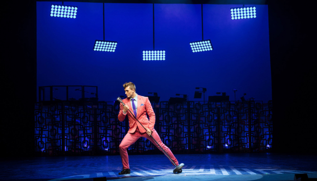 <p>Edward Chitticks as Link Larkin in <em>Hairspray</em></p><br />© Darren Bell