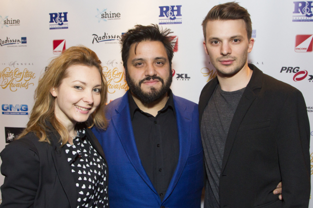 <p>Elise Audeyev, Nathan Amzi and Richard Southgate</p><br />© Dan Wooller For WhatsOnStage
