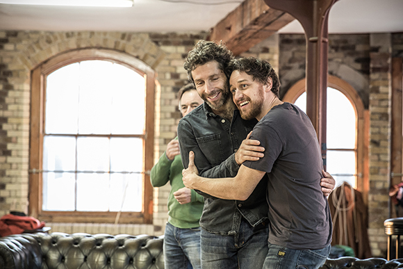 <p>Elliot Levey and James McAvoy</p><br />© Marc Brenner