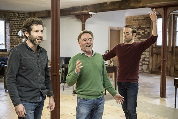 <p>Elliot Levey, Ron Cook and Darren Carnall (choreographer)</p><br />© Marc Brenner