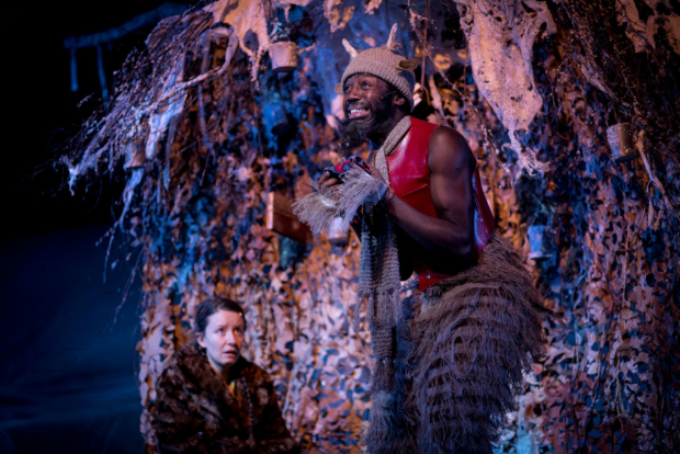 <p>Emilie Flemming (Lucy) and Jo Servi (Mr Tumnus)  in <em>The Lion, The Witch and the Wardrobe</em></p><br />(c) Graeme Braidwood