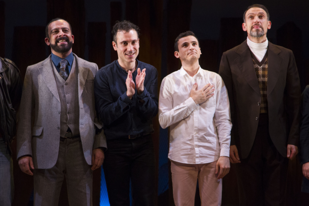 <p>Emilio Doorgasingh (Baba), Ben Turner (Amir), Andrei Costin (Hassan/Sohrab) and Nicholas Khan (Rahim Khan)</p><br />© Dan Wooller for WhatsOnStage