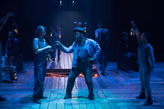 <p>Emily Hughes, Patrick Brennan and the company of <em>Paint Your Wagon</em></p><br />© Jonathan Keenan