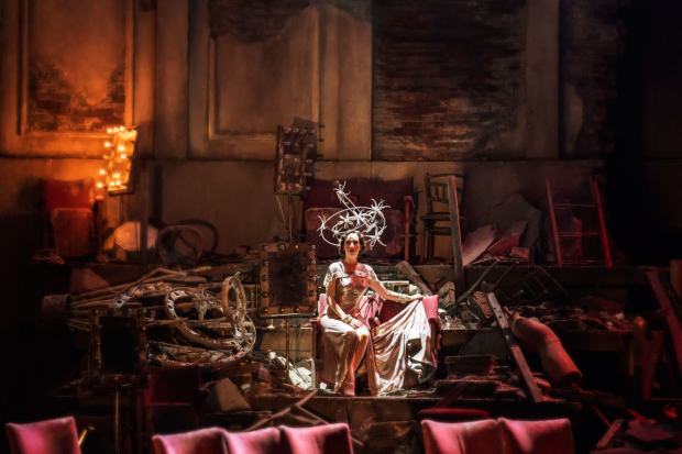<p>Emily Langham as Young Carlotta in <em>Follies</em> at the National Theatre</p><br />© Johan Persson