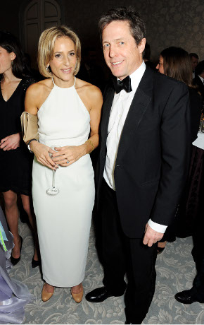 <p>Emily Maitlis and Hugh Grant</p><br />© David M. Benett