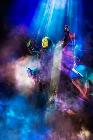 <p>Emma Hatton as Elphaba</p><br />Matt Crockett