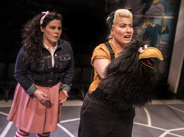 <p>Emma Ralston (Fiona Mullins) and Jodie Jacobs (Crow)</p><br />© Pamela Raith