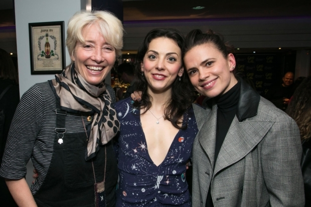 <p>Emma Thompson, Naomi Sheldon (performer/author) and Hayley Atwell</p><br />© Dan Wooller for WhatsOnStage