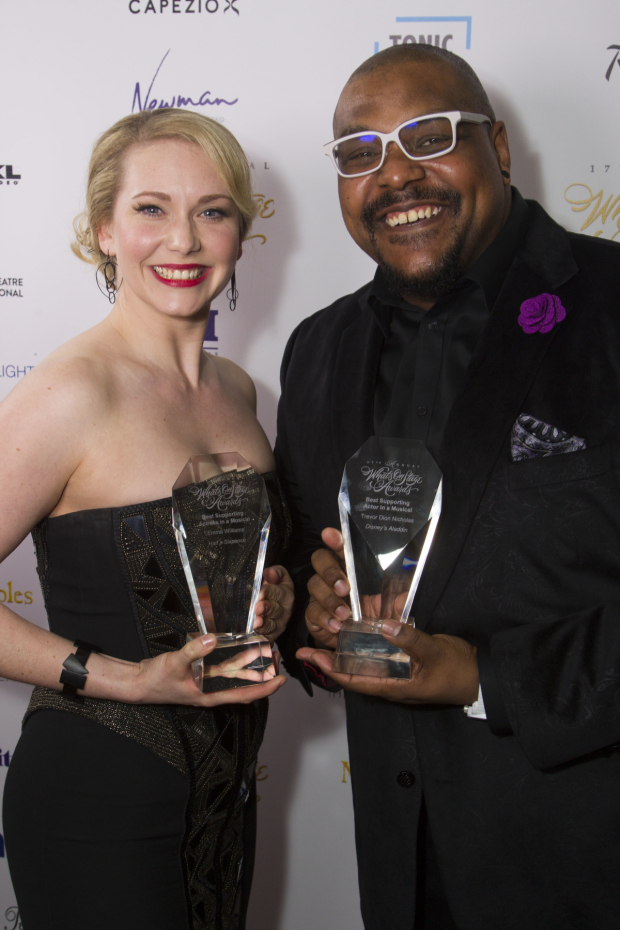 <p>Emma Williams and Trevor Dion Nicholas</p><br />© Dan Wooller for WhatsOnStage