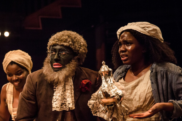 <p>Emmanuella Cole, Alistair Toovey and Vivian Oparah  in <em>An Octoroon</em> </p><br />©The Other Richard