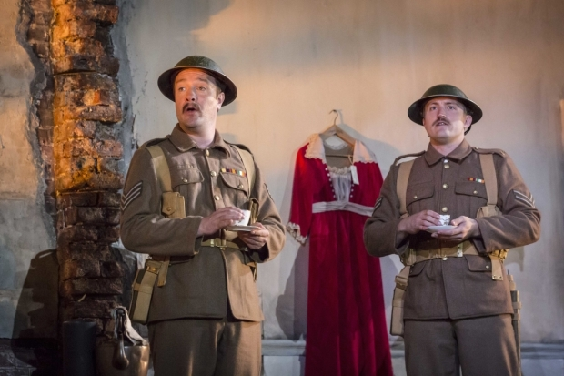 <p>Eoin Skattery (Sgt Tinley) and Richard Pryal (Corporal Stoddart)</p><br />© Johan Persson