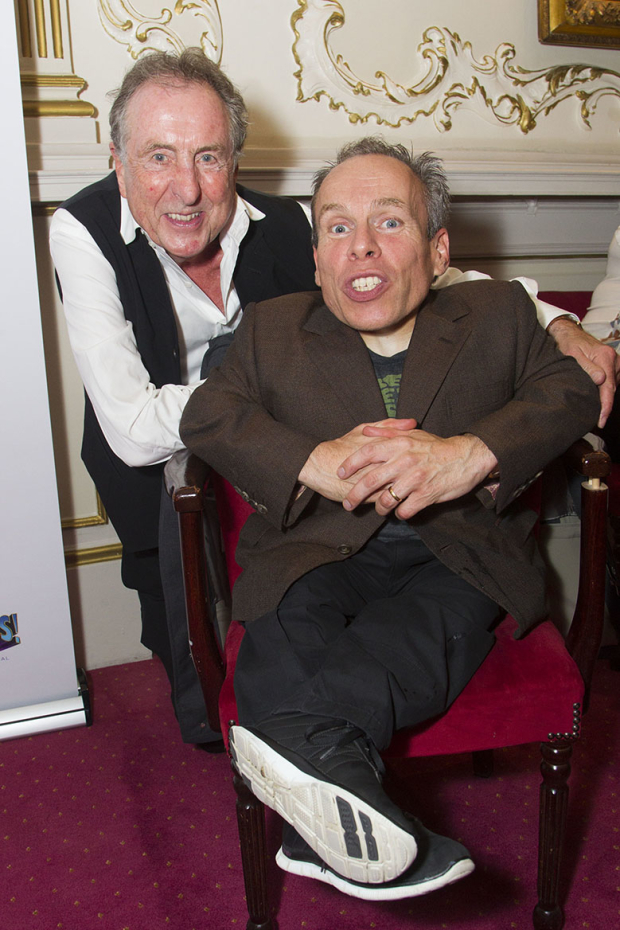 <p>Eric Idle and Warwick Davis (Evil Lord Hector)</p><br />© Dan Wooller for WhatsOnStage